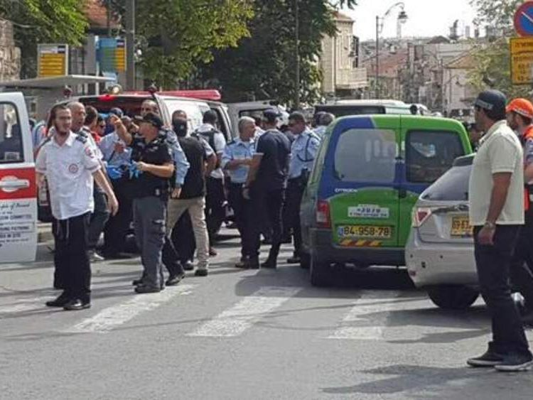 Attack in Raanana. Picture: Israeli Medical Service