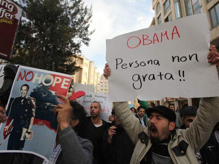 Palestinian Obama demo