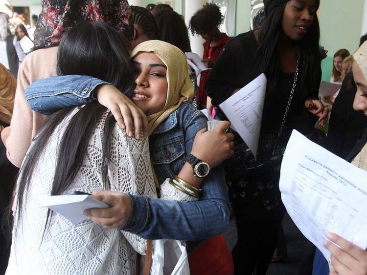 Students at the Elizabeth Garrett Anderson School for Girls