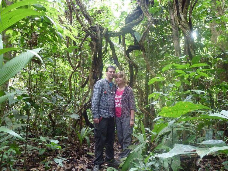 Rochelle Harris with her boyfriend in Peru
