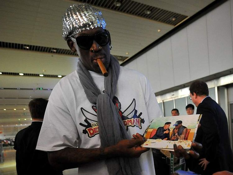 Rodman back from North Korea