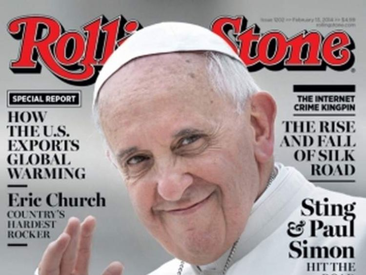 Pope Francis on the cover of Rolling Stone