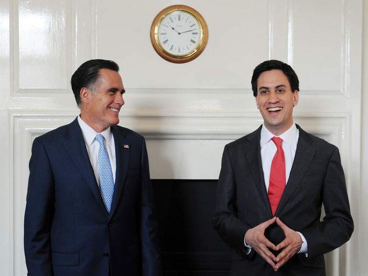 Mitt Romney with Ed Miliband