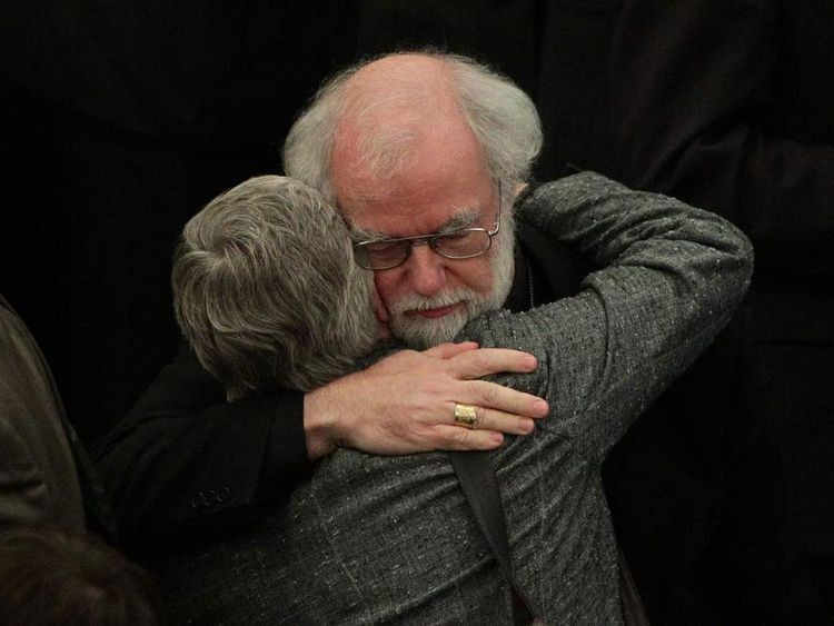 Dr Rowan Williams said he was saddened by a vote to reject woman bishops.