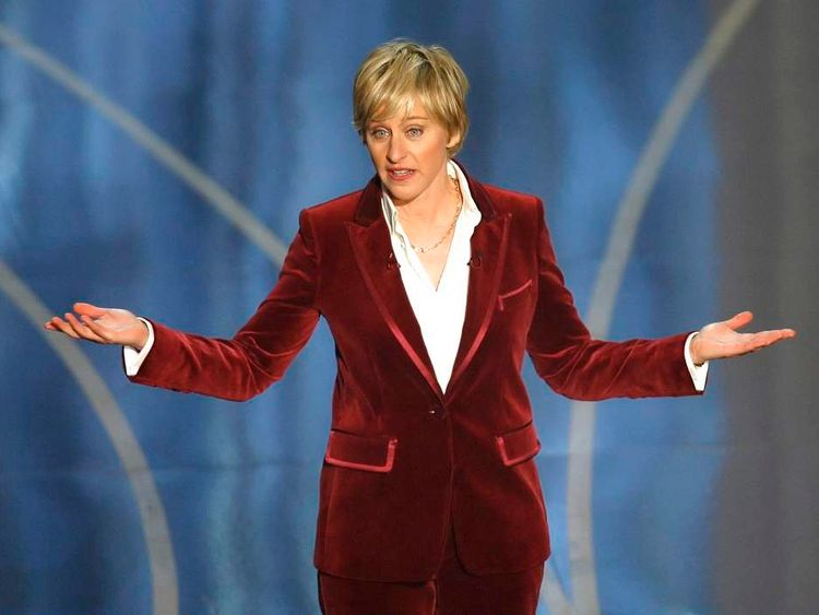 Host Ellen DeGeneres performs at the 79th Annual Academy Awards in Hollywood
