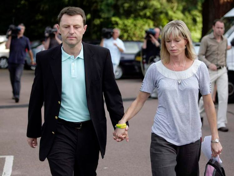 Gerry and Kate McCann leave a news conference at the Rothley Court Hotel in their home village of Rothley in Leicestershire