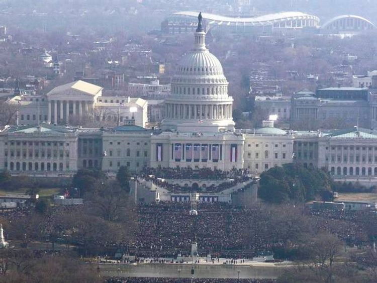 Hundreds of thousands of people packed the National Mall in 2009