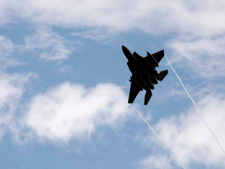 A US F-15 jet fighter
