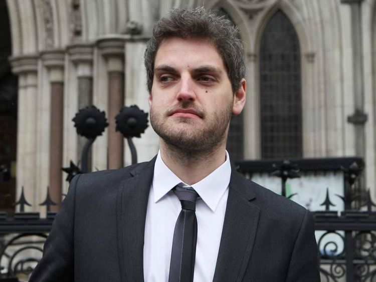 Paul Chambers leaves the High Court in London February 8, 2012.