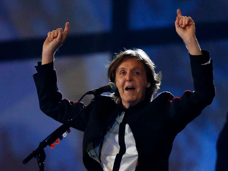 Sir Paul McCartney performs at the opening ceremony of the London Olympics