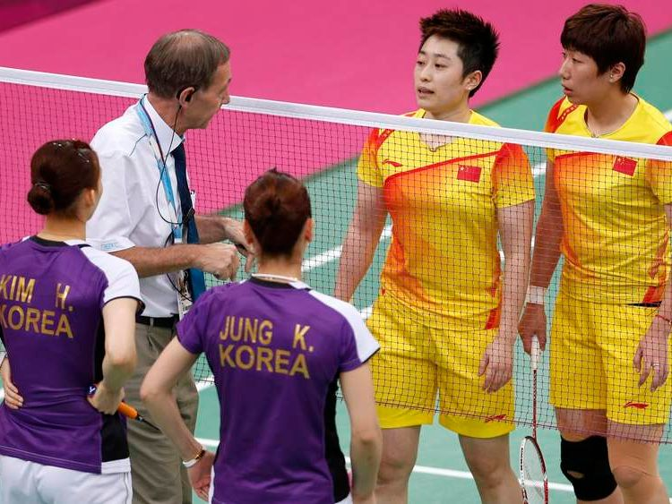 Players from China and South Korea