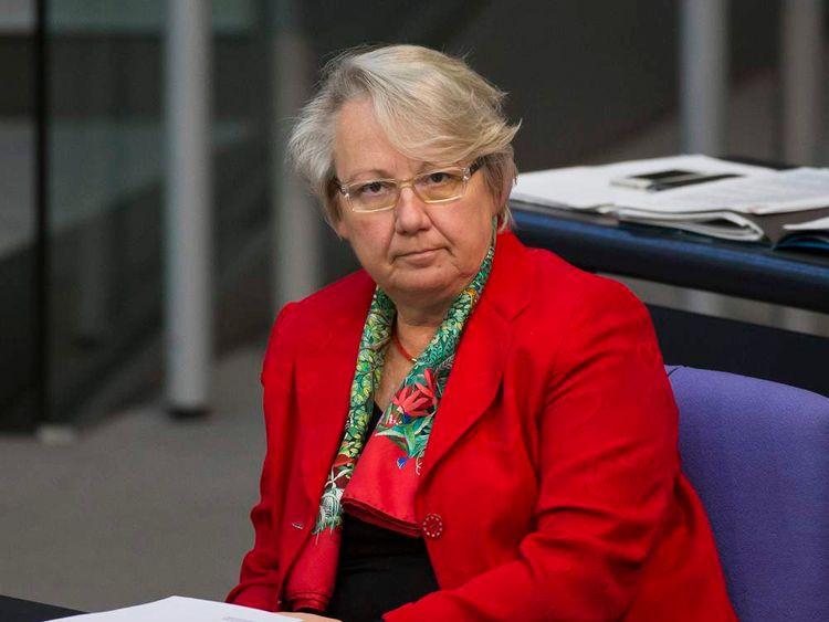 German Education Minister Annette Schavan