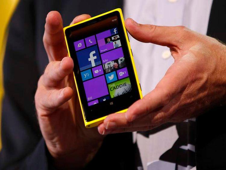 A Nokia Lumia 920 featuring Windows Phone 8