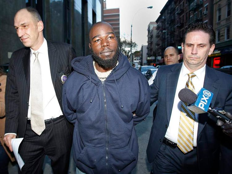Davis, the suspect in the New York Subway pushing case, arrives at Manhattan Criminal Court in New York