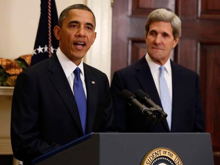 US President Barack Obama and Senator John Kerry
