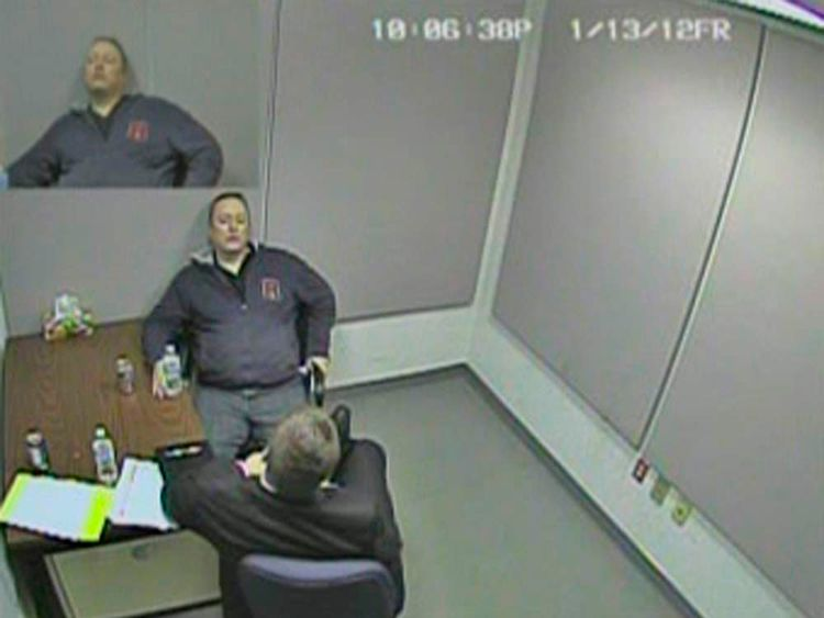 Frame grab of handout release by RCMP of video interrogation of confessed spy Delisle