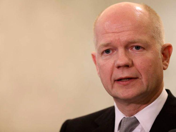 Britain's Foreign Secretary William Hague.