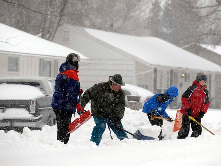 Snow storm hits central America