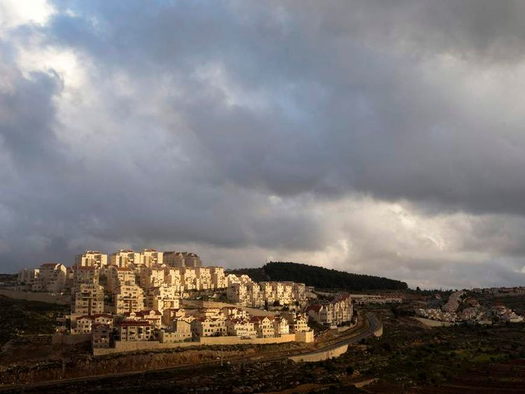 Houses are seen in a general view of the West Bank Jewish settlement of Efrat.