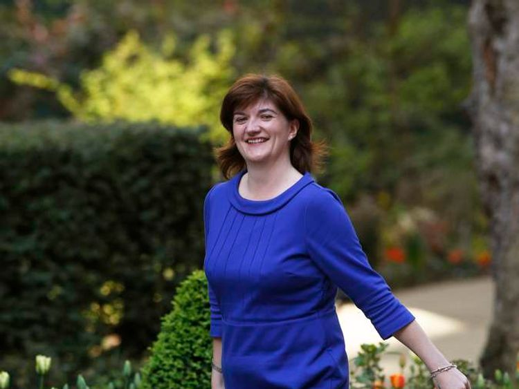 Britain's new Financial Secretary to the Treasure Nicky Morgan arrives at Downing Street in London