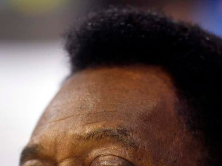 Brazil's soccer legend Pele attends a promotional event in Sao Paulo