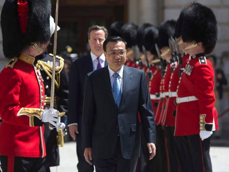 China's diplomatic visit to London