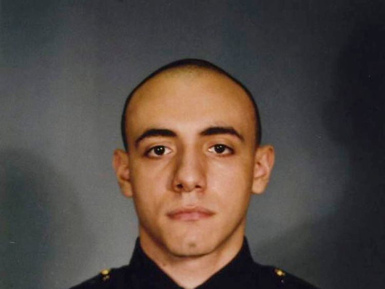 Jersey City police officer Melvin Santiago is seen in an undated handout photo released by the Jersey City Mayor's office in New Jersey