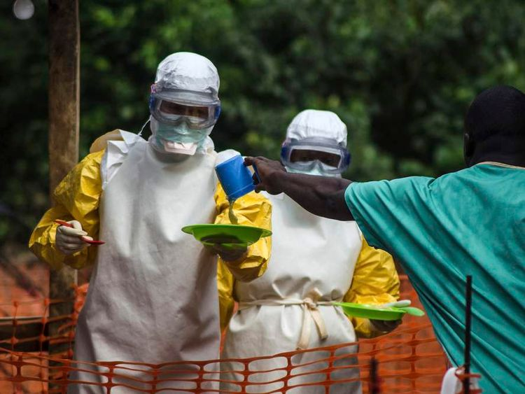 Medical staff are working to contain the spread of the virus in Sierra Leone.