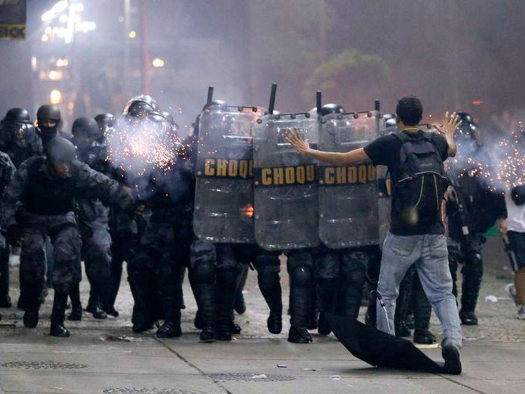Protests in Rio de Janeiro