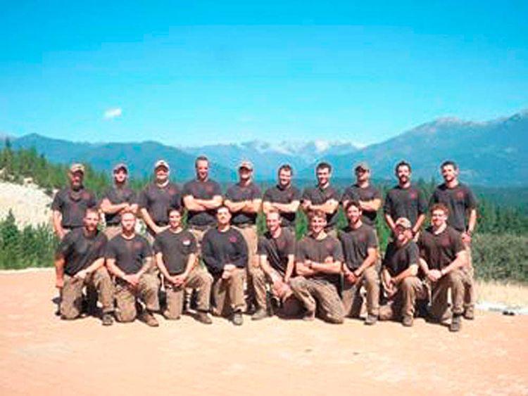 Handout of the Granite Mountain Interagency Hotshot Crew in Prescott