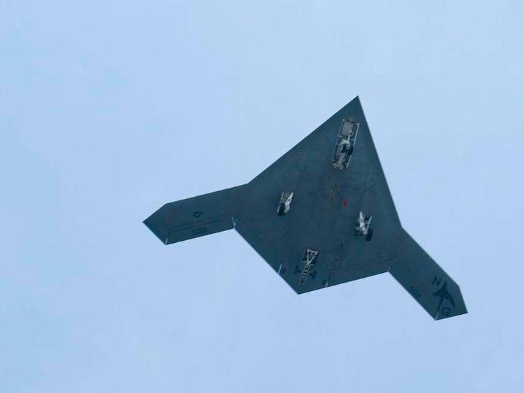 An X-47B pilot-less drone