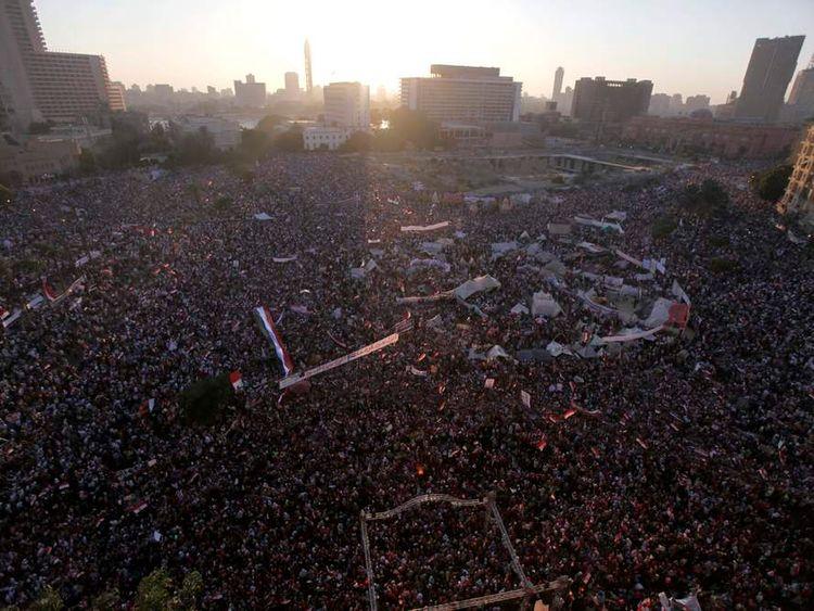 Anti-Mursi protesters in Tahrir Square