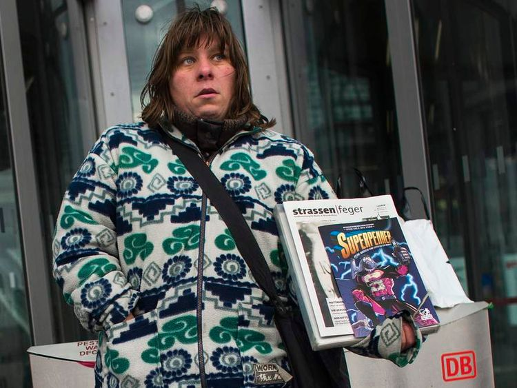 Unemployed kitchen worker Daniela said the comic was good for business.