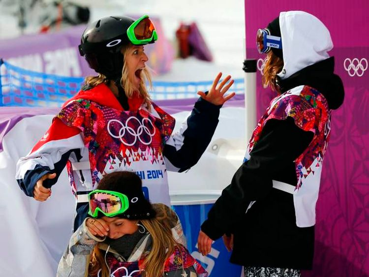 Jamie Anderson, Jenny Jones and Enni Rukajarvi