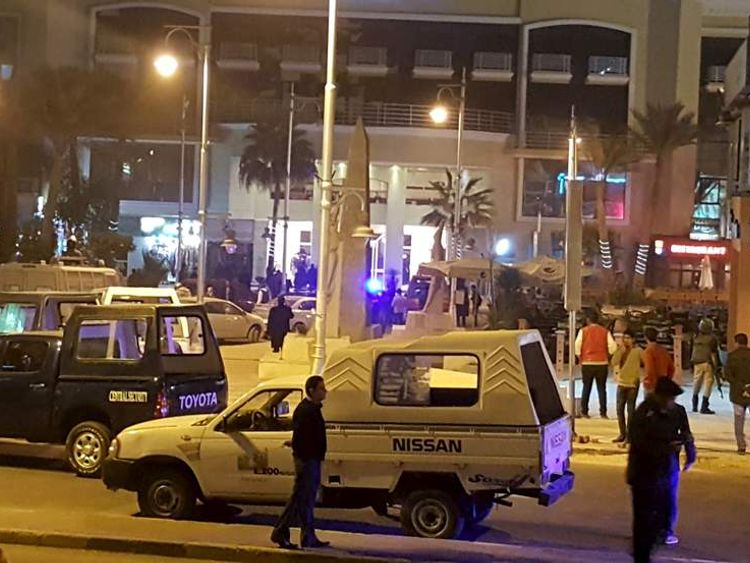 Security at hotel where two attackers opened fire in the Egyptian Red Sea resort town of Hurghada