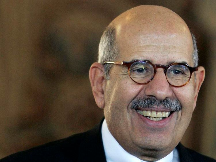 International Atomic Energy Agency Director ElBaradei answers questions in Prague