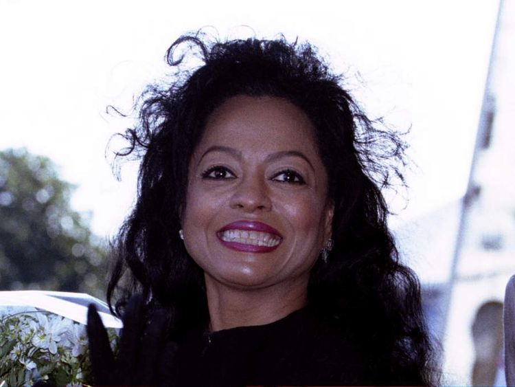 American singer star Diana Ross poses for photographers