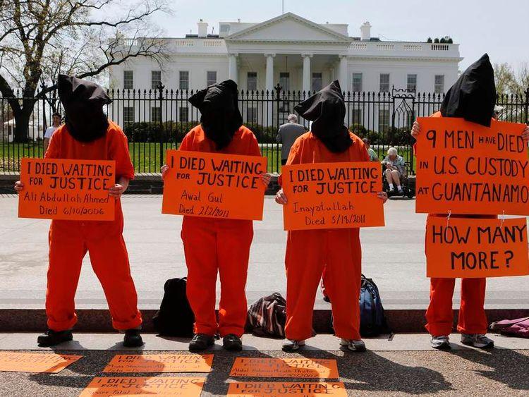 Activists rally for closure of Guantanamo Bay prison
