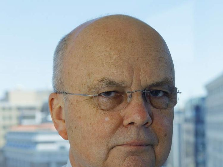 Former director of the NSA and retired US Air Force General Michael Hayden is pictured in his office in Washington