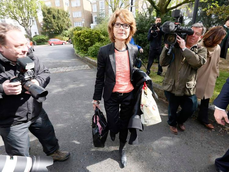 Vicky Pryce arriving home