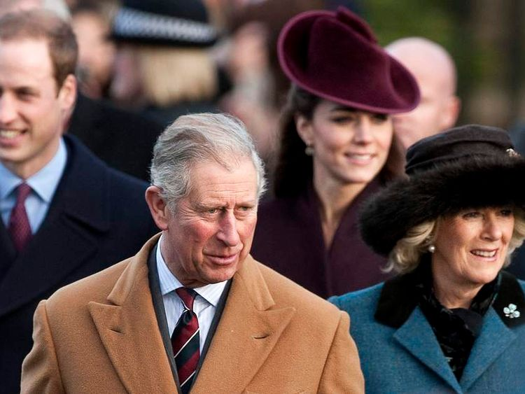Britain's Prince Charles (2ndL) and Cami