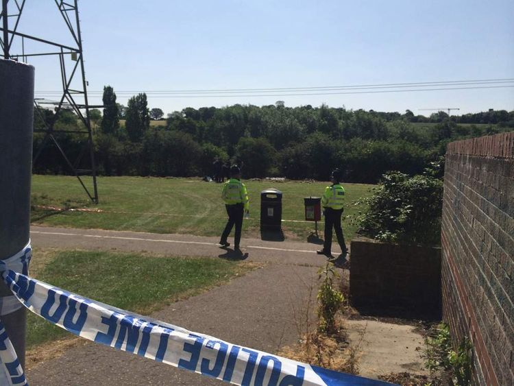 COLCHESTER Police at the scene of the murder of Saudi student Nahid Almanea