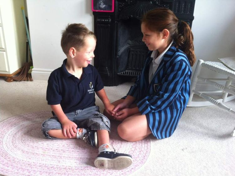 Phoebe and Curtis, children of Hannah Stott