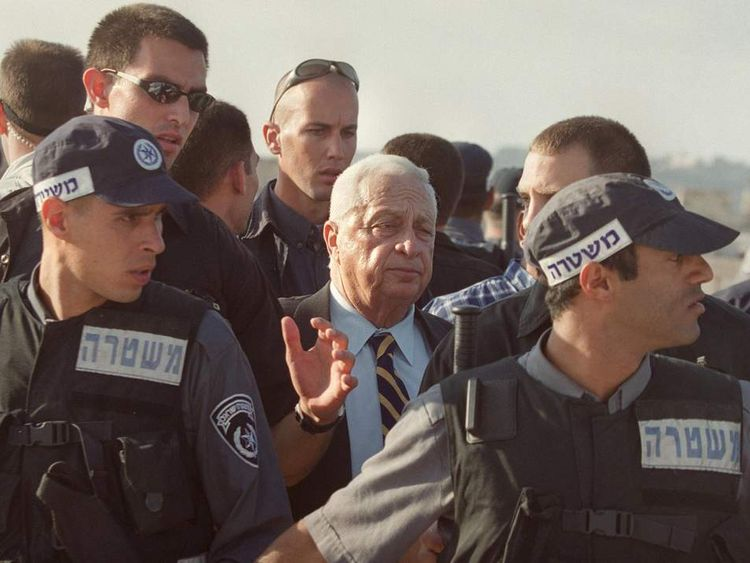 Sharon visits the al Aqsa Mosque in 2000 sparking the Second Intifada