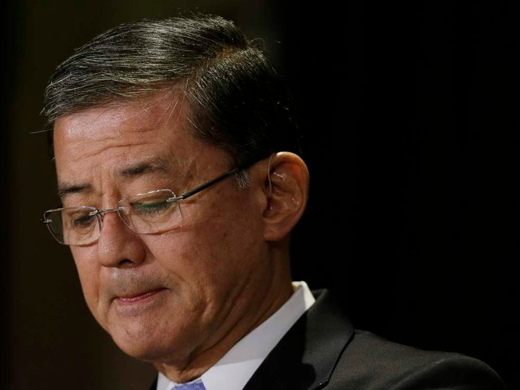 United States Veterans Affairs Secretary Shinseki addresses The National Coalition for Homeless Veterans in Washington
