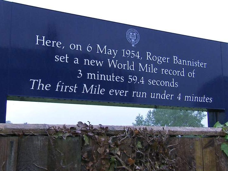 Sign dedicated to Roger Bannister