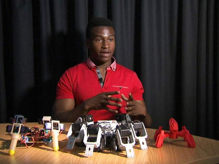 Silas Adekunle, the founder of Reach Robotics