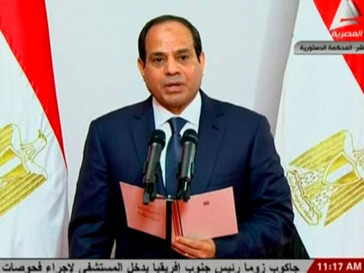 Abdel Fattah al-Sisi takes the oath of office