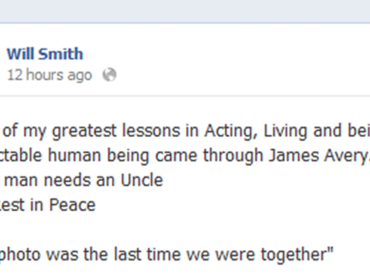 Will Smith Facebook page