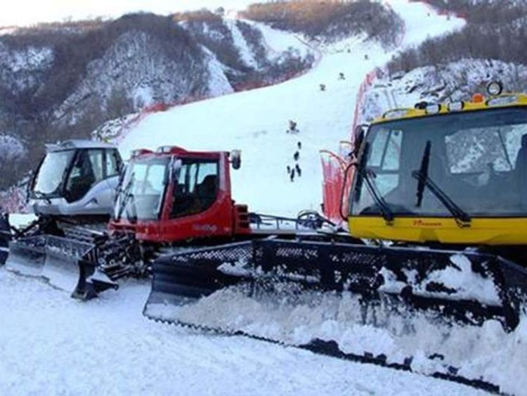 Equipment, including these snow ploughs, could breach UN sanctions imposed on North Korea.